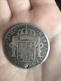 Carolus 1793, Hispan et ind rex m 8R F.M.