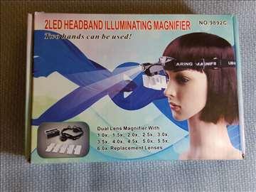 Lupa za glavu sa Led 6x uvećanje nova