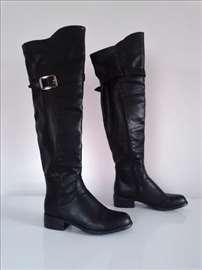 Crne čizme preko kolena br.38 Safran - LX19023 BLK