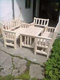 Baštenske garniture - drvene klupe