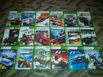 Xbox 360 auto-moto igre 18 komada