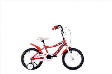 "Capriolo kid bicikl 16"" belo-crveni Ht"