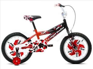 "Capriolo kid bicikl 16"" crno-crveno-beli"
