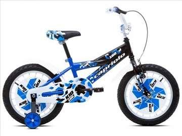 """Capriolo kid bicikl 16"""" crno-plavo-beli"""