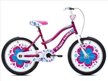 """Capriolo sunny bicikl 20"""" belo-ljubičasto-plavi Ht"""