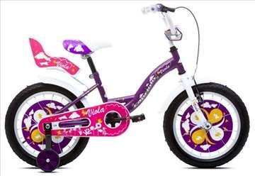 """Capriolo viola bicikl 16"""" belo-ljubičasti"""