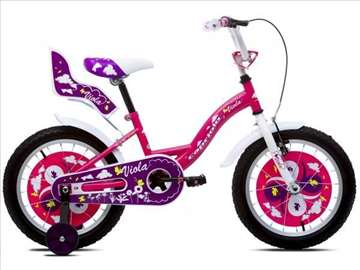 "Capriolo viola bicikl 16"" belo-pink"