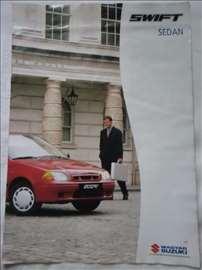 Prospekt Suzuki Swift Sedan, A 4, engleski, 4 str.