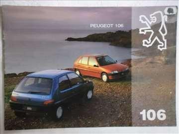 Prospekt Peugeot 106,1994, A4, 23 str, franc/eng.