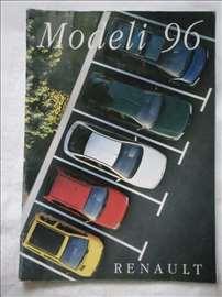 Prospekt Renault program 1996, srpski, A4, 27 str.
