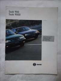 Prospekt Saab 900 i 9000,1994.,A4,24 str.nemački