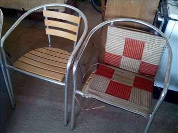 Prodajem nov aluminijumski stočić i stolice
