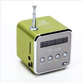 Mini zvučnik + MP3 + FM Radio-zelena