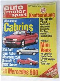 Casopis Auto Motor und Sport,br.7/1991.god. A 4