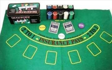 Poker Chips 200kom (kutija+ karte+podloga)