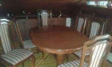 Trpezarijski ovalni sto + 6 stolica