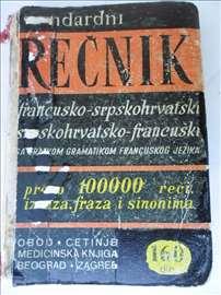 Knjiga:Rečnik Obod,Cetinje,srp/fra i fra/srp,631 s