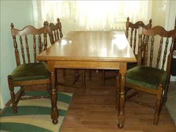 Trpezarijski stilski sto i stolice