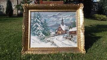 Drvena crkva u snegu - Vilerov rad