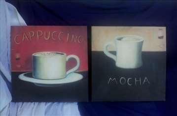 Reklamne slike za kapućino i moka kafu
