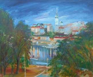 Beograd 4 Ulje Na Platnu 8099 Cm Halo Oglasi
