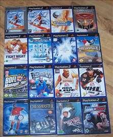 Playstation 2 igre Sportske 15kom.