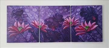 Purple Dream (Triptych)