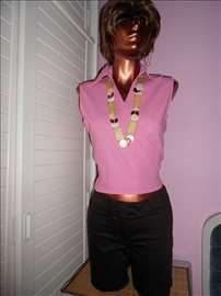 Roza bluza majica na preklop sl.8