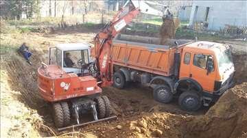 Sve vrste iskopa, prevoz kiperima rušenje objekata