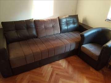 Trosed i fotelja - komplet - extra stanje