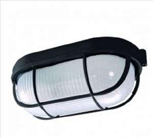 Al lampa Fido crna/IP54/E27/60W