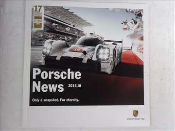 Prospekt Porsche News, 03/15,47 str, 21 x 21cm
