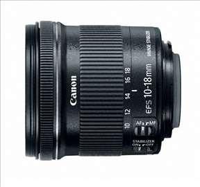 Objektiv Canon 10-18 / 45-56 IS STM + Hood