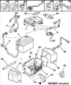 Citroen C2 Poklopci Akumulatora, NOVO
