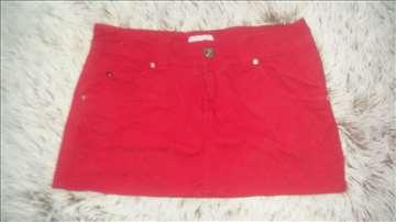 Calliope crvena mini suknjica od pamuka i elastina