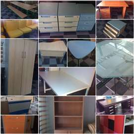 Kancelarijski nameštaj-stolovi, stolice, razno