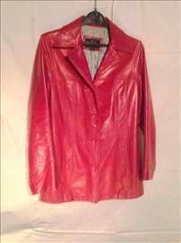 Crveni kožni sako/jakna