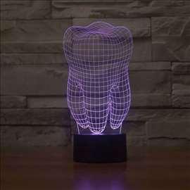 3D lampa pogodna za reklamu i/ili izlog ordinacije