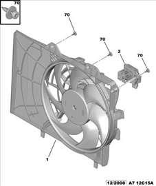 Citroen C5 III Reostat Ventilatora Hladnjaka, NOVO