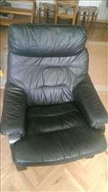 Trosed-dvosed-fotelja TDF kožna garnitura