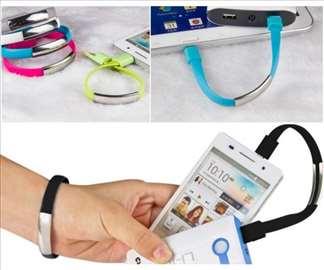 Micro USB Kabl Narukvica