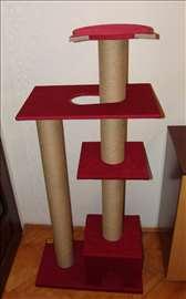 Grebalica-penjalica za mačke sa kućicom