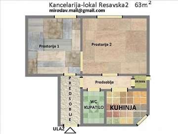 STROGI CENTAR BEOGRADA Salonski stan 63m2 prodajem