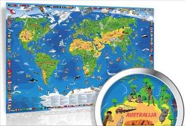 Akcija Xxl Decija Karta Sveta Nova Na Engleskom Halo Oglasi
