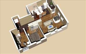 Dvoiposoban stan, Novogradnja, Odmah useljivo!